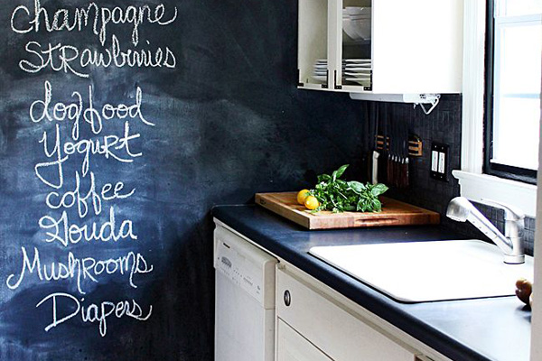 diy chalkboard wall, chalkboard design, home decor, statement wall, chalkboard paint
