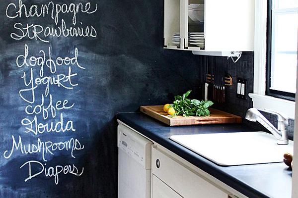 diy chalkboard wall, chalkboard design, home decor, statement wall, chalkboard paint
