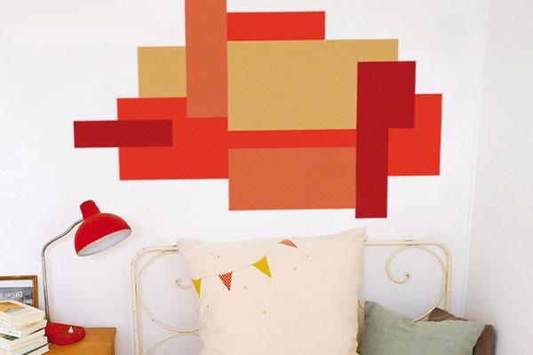 diy colour blocks, home decor, colour block, statement wall