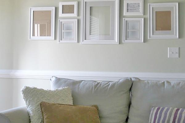 diy wall decor, diy frames, decorating, blank walls, empty frames