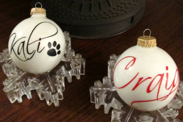 custom ornament, holiday ornament, tree ornament, name ornament, personalized ornament