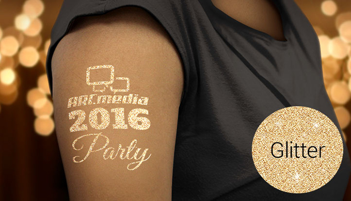 temporary tattoo, glitter tattoo, marketing, events