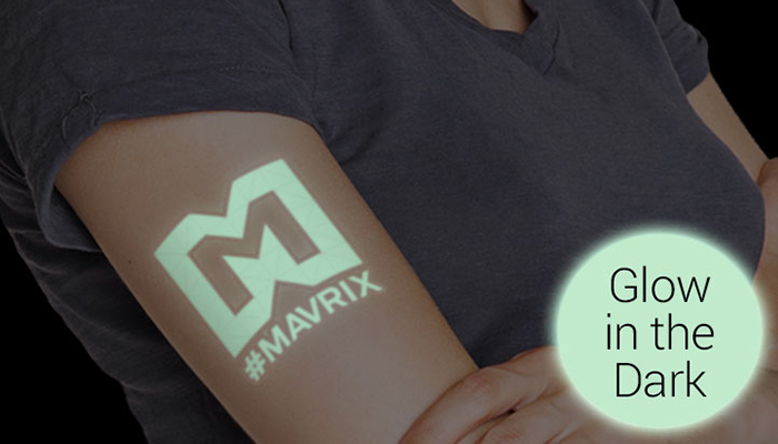 temporary tattoo, glow-in-the-dark tattoo, marketing, events