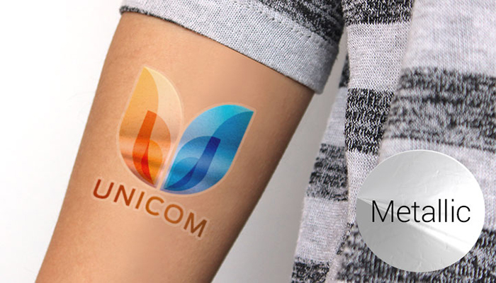 temporary tattoo, metallic tattoo, marketing, events