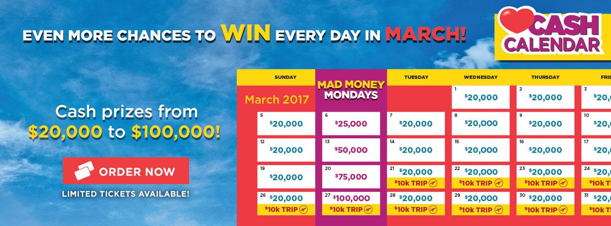 Cash Calendar Lottery