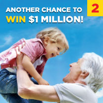 ANOTHER CHANCE TO WIN $1 MILLION!