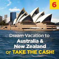 Dream Vacation to Australia & New Zealand or TAKE THE CASH